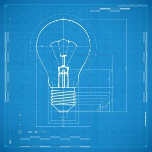 bigstock-Blueprint-of-bulb-lamp-Styliz-58749746