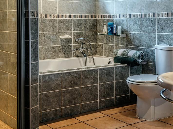 bathroom, toilet, tub, sink, room